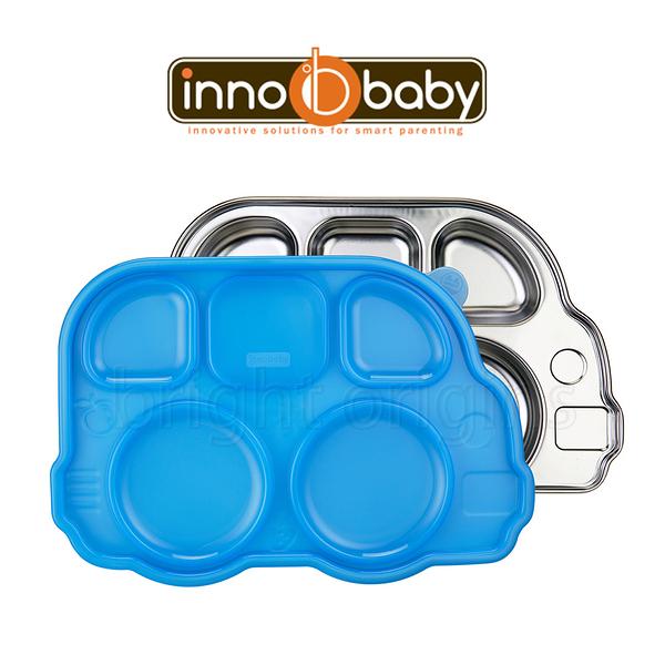 Innobaby 不銹鋼兒童餐具 巴士餐盤 Din Din SMART™ (藍色)