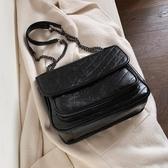洋氣女士包包最新款潮韓版百搭質感斜背包時尚單肩包-風尚3C