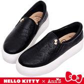 HELLO KITTY X Ann'S 和妳在一起厚底懶人鞋-黑