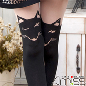 Amiss【Z408-110】日系精緻造型★假大腿褲襪-小柴犬
