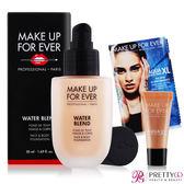 MAKE UP FOR EVER 恆久親膚雙用水粉霜(50ml)#Y215+超持久顯色眼彩霜-霓光粉膚(1.3ml)【美麗購】