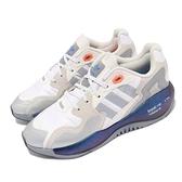 【海外限定】adidas 休閒鞋 ZX Alkyne 白 橘 藍 男鞋 愛迪達 三葉草 Boost 反光 【ACS】 FY5720