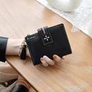 凡元素新款錢包女短款PU皮學生韓版多功能駕駛證皮夾迷你小零錢包 一米陽光