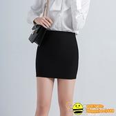 2020新款包臀裙半身裙高腰彈力一步裙短裙女職業包裙黑色工作裙子【happybee】