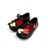 迪士尼 米奇米妮不對稱 魔鬼氈 防水布希涼鞋《7+1童鞋》E232黑色