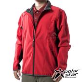 PolarStar 男 Soft Shell保暖外套『紅』P19211 戶外 休閒 登山 露營 保暖 禦寒 防風