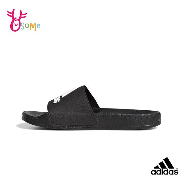 adidas拖鞋 兒童拖鞋 男女童 防水快乾拖鞋 運動拖鞋 室內室外拖鞋 女鞋可穿 ADILETTE S9364#黑色◆奧森