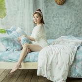[SN]#U092#細磨毛天絲絨5x6.2尺標準雙人床包+枕套三件組-台灣製(不含被套)