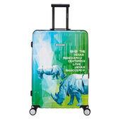 【CENTURION百夫長】拉鍊款26吋U_E12印度犀牛行李箱