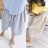 兒童短褲 夏季韓版條紋5分休閒短褲