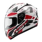 【東門城】ASTONE GTB600 II71 (白/紅) 全罩式安全帽 內藏墨鏡