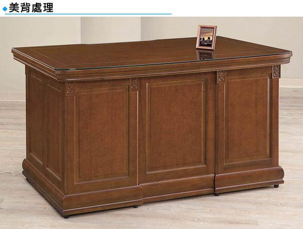 【森可家居】賽德6尺辦公主管桌 8SB256-1 OA辦公 公司 樟木實木