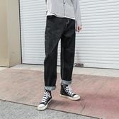 牛仔褲 新款百搭寬鬆原色牛仔褲子男士日系復古直筒牛仔長褲潮