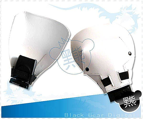 黑熊館 皮質反光板 柔光板 跳燈反射板 外接閃光燈通用型 反光鏟 皮質特效反光板