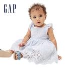 Gap嬰兒 甜美鏤空刺繡方領洋裝 663...