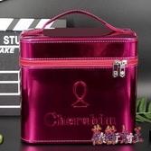 化妝箱 手提化妝包便攜多功能特大號簡約防水收納盒 BF9847【花貓女王】