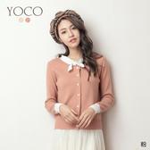 東京著衣【YOCO】甜心千金撞色小領結針織上衣(191336)