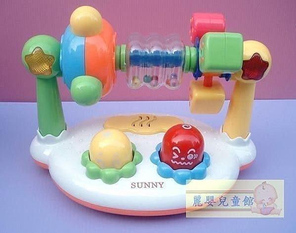 麗嬰兒童玩具館~《優質推薦》SUNNY嬰兒寶專屬聲光樂園遊戲組-閃光音樂摩天輪