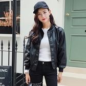 皮衣外套-寬鬆純色短款棒球服女夾克2色73on53【巴黎精品】