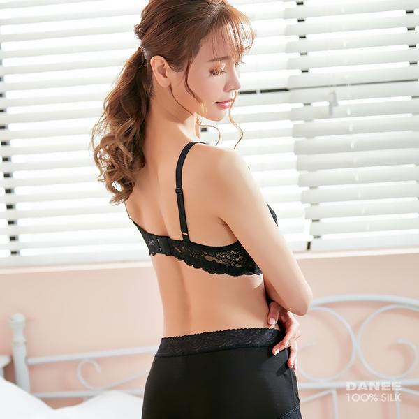 【岱妮蠶絲】FB15220經典款輕柔舒適型蠶絲內衣 (黑色)