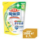 魔術靈 地板清潔劑 鮮採檸檬 補充包 (1800mlx6入) 箱購│飲食生活家