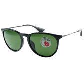 台灣原廠公司貨-【Ray Ban 雷朋】4171F-601/2P-亞洲版偏光太陽眼鏡(黑框綠鏡面)