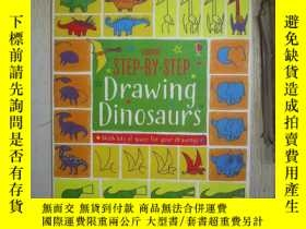 二手書博民逛書店Step-by-Step罕見Drawing Dinosaurs