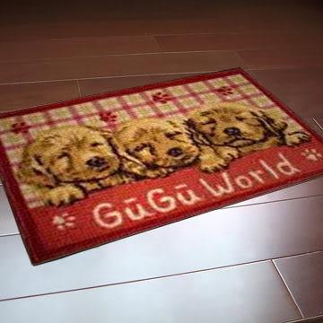 范登伯格-埃及進口防滑優質踏墊/地毯-狗兒44x70cm