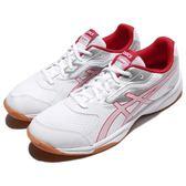 【六折特賣】Asics 排羽球鞋 Upcourt 2 二代 白 紅 運動鞋 男鞋 基本款【PUMP306】 B705Y0123