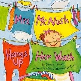 《主題 : 趣味.句型學習》MRS MCNOSH HANGS UP HER WASH /英文平裝繪本