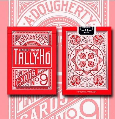 TALLY-HO RED ROSE 反紅扇背 撲克牌