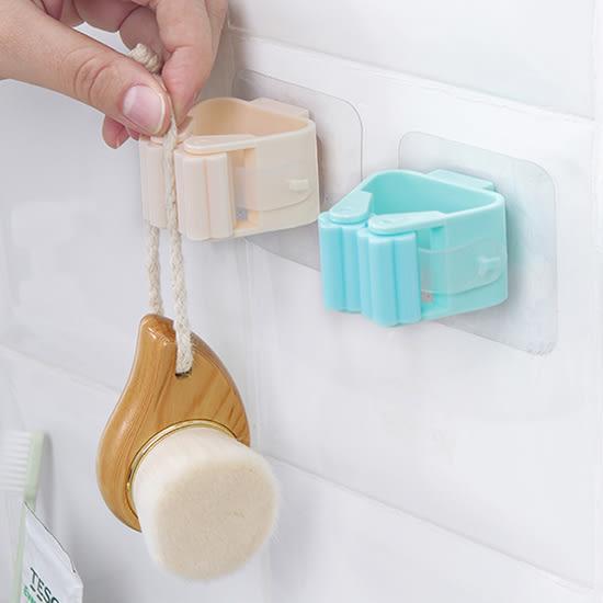 免打孔拖把掛架 無痕 透明吸盤  拖把架 掃把架 浴室夾 強力 掃把【P616】♚MY COLOR♚