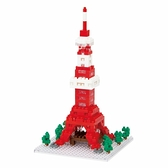 《 Nano Block 迷你積木 》【世界主題建築系列】NBH-053東京鐵塔(透明底座) / JOYBUS玩具百貨