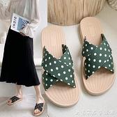 網紅拖鞋夏季涼拖鞋平底鞋韓版斑點舒適一字拖防滑拖鞋女外穿