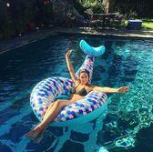 游泳圈 水上充氣美人魚泳圈 美人魚浮排 PVC美人魚泳圈 拍攝道具 攝影 芭蕾朵朵