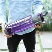 大容量太空杯塑膠水杯便攜戶外運動水壺2000ml健身隨手超大水杯子 莫妮卡小屋
