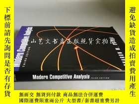 二手書博民逛書店英文原版精裝Modern罕見competitive analysis(Third Edition)現代競爭分析 第