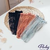 襪子 透膚刺繡蕾絲短襪-Ruby s 露比午茶