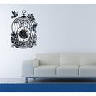 【收藏天地】RoomDeco*創意時鐘壁貼家飾-復古鳥籠 /掛鐘 時鐘貼 居家 生活用品 時鐘 禮物