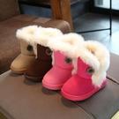女童雪靴男童棉鞋秋冬季兒童短靴加絨保暖...