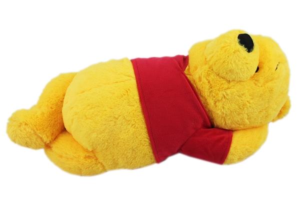 【卡漫城】 維尼熊 玩偶  長毛躺姿  ㊣版 收藏 Winnie Pooh 小熊 維尼 絨毛 娃娃 布偶 迪士尼 擺飾