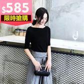 大韓訂製氣質洋裝韓版棉麻套装兩件式日系一字領洋裝縮腰