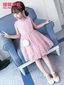 洋裝 女童夏裝新款韓版兒童裝夏季洋氣公主裙蓬蓬紗小女孩洋裝子 免運快速出貨