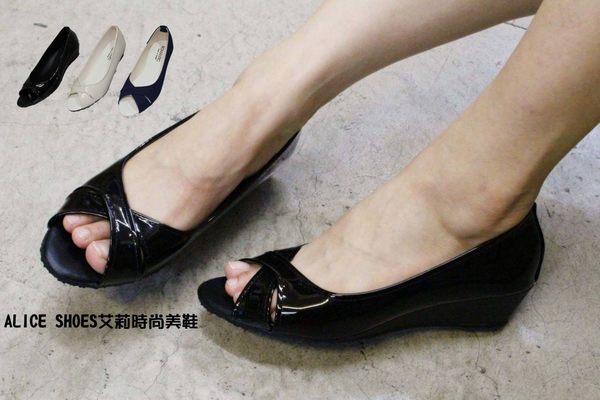 ALICE SHOES艾莉時尚美鞋 請把握!!搶鮮擁有簡約低跟魚口鞋@957@@三雙免運@MIT台灣製造