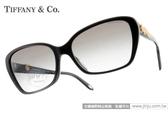 Tiffany&CO.太陽眼鏡 TF4069BA 80013C (黑-金花) 典雅精緻水鑽雛菊框 # 金橘眼鏡