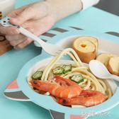 兒童餐具嬰兒輔食碗叉勺子寶寶餐盤創意卡通分格盤5件套裝 歐韓時代