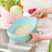 居家家淘米器洗米篩漏塑料淘米盆籃廚房用品瀝水籃洗菜籃子洗菜盆·享家生活館