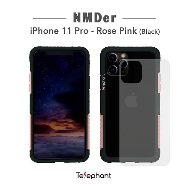 太樂芬Telephant iPhone 11 Pro/5.8吋 NMDER抗汙防摔手機殼 簡約款邊框含透明背板 金屬支架保護殼