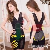 連身塑身衣 420丹深V刺繡蕾絲彈力網布連身塑身衣 M-XXL(黑色) -伊黛爾