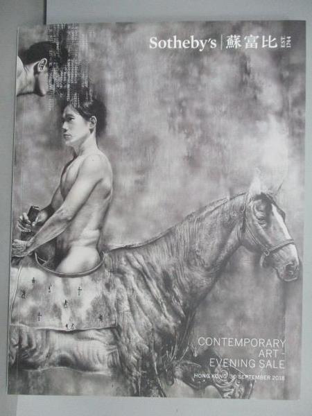 【書寶二手書T2/收藏_FEW】蘇富比_Contemporary Art-Evening Sale_2018/9/30